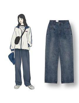 Demain   High Waist Wide Leg Jeans by Demain