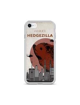 Hedgezilla Hedgehog Kaiju Humor I Phone Case For Hedgehog Fan by Etsy