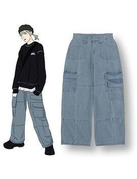 Demain   Pocket Detail Wide Leg Jeans by Demain