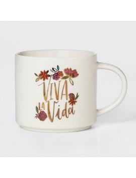 16oz Porcelain Viva La Vida Mug White   Threshold by Threshold