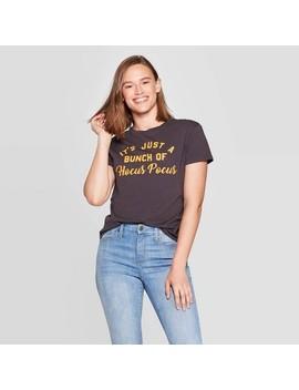 Women's Bunch Of Hocus Pocus Short Sleeve T Shirt   Fifth Sun (Juniors')   Vintage Black by Shirt