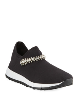 Verona Sneakers With Crystal Strap by Jimmy Choo
