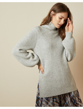 Chunky Wool Blend Roll Neck Jumper by Ted Baker