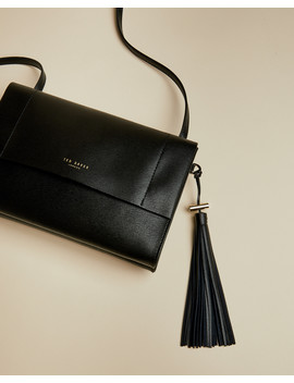 Medium Leather Tasselled Cross Body Bag by Ted Baker