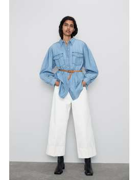 Belted Denim Shirt Special Priceswoman by Zara