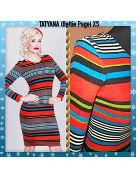 Tatyana (Bettie Page) Midi Flattering Stretch Wiggle Helen Sweater Dress Xs by Tatyana