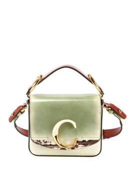 C Mini Glossy Top Handle Bag by Chloe