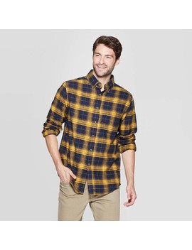Men's Plaid Standard Fit Long Sleeve Flannel Button Down Shirt   Goodfellow & Co by Down Shirt