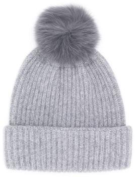 Fur Puff Beanie by Yves Salomon