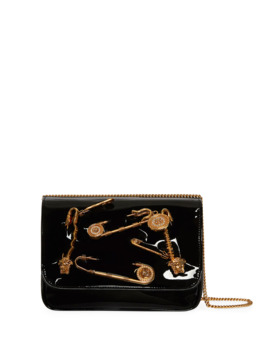 Safety Pin Patent Crossbody Bag by Versace