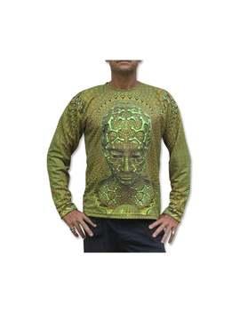 Long Sleeve T Shirt 'uv Micro Macro'. Psychedelic T Shirt, Trippy T Shirt, Uv Active Rave T, Festival T Shirt, Visionary Art T, Boho T Shirt by Etsy