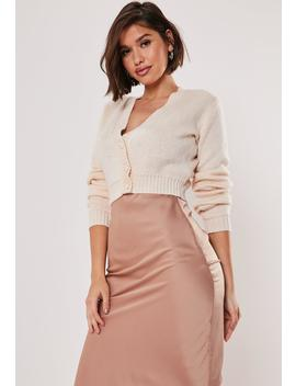 Blush Super Cropped Basic Cardigan by Missguided