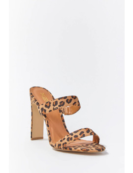 Leopard Open Toe Heels by Forever 21