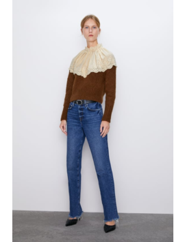 Contrasting Embroidery Sweater View All Knitwear Woman by Zara