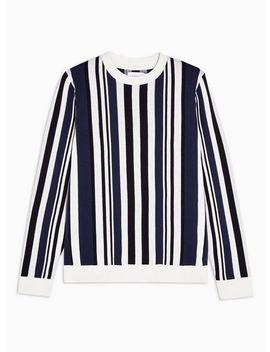 Ecru And Navy Stripe Jumper by Topman