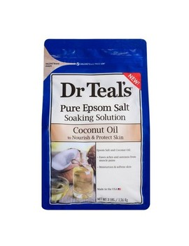 Dr Teal's Pure Epsom Salt Nourish & Protect Coconut Oil Soaking Solution   3lbs by 3lbs