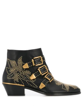 Susanna 30mm Studded Boots by Chloé