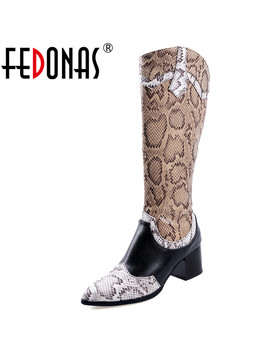 Fedonas Plus Size Women Pointed Toe Knee High Boots Dancing Shoes Woman Autumn Winter Warm Western Boots Fashion Riding Boots by Ali Express.Com