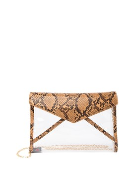 Kinsley Vegan Snake Embossed Crossbody Clutch by Urban Expressions