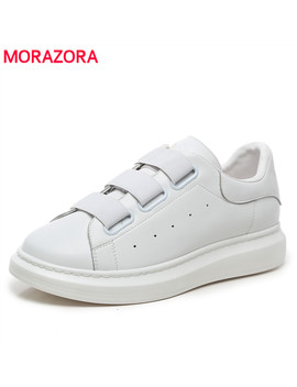 Bi G Size 38 46 Genuine Leather Couple Shoes Platform Sneakers Women Men Casual Shoes Cow Leather Elastic Small White Shoes by Ali Express.Com
