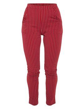 Wine Pinstripe Skinny Trouser by Prettylittlething