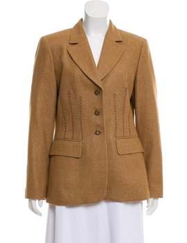 Structured Wool Blazer by Escada