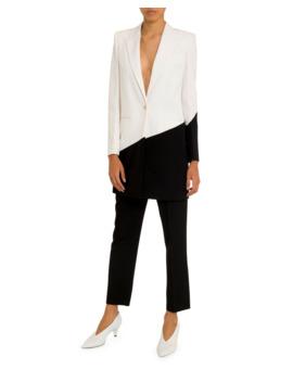 Asymmetric Bicolor Long Blazer by Givenchy