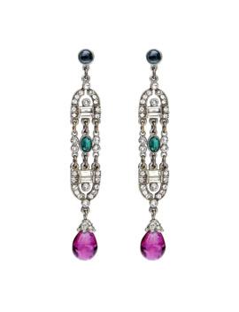 Velvet Glamour Deco Drop Earrings by Ben Amun