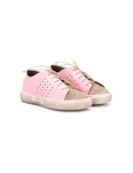Contrast Colour Lace Up Sneakers by Pépé Kids