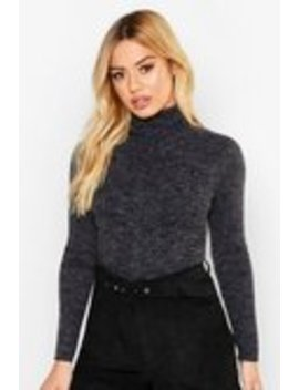 Petite Rib Knit Roll Neck Jumper Petite Rib Knit Roll Neck Jumper by Boohoo