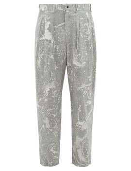 Sumi Nagashi Canvas Trousers by Sasquatchfabrix