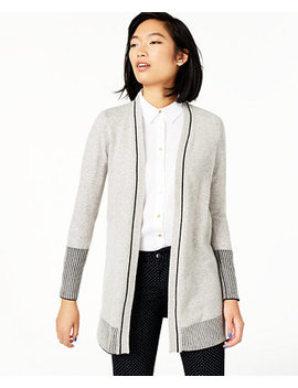 Contrast Cashmere Cardigan, Created For Macy's by General