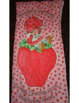 "Vintage 1980 Rare Strawberry Shortcake Kids Pink Sleeping Bag 32""X65"" Excellent by Ebay Seller"