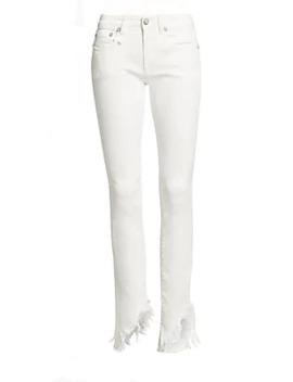 Kate Skinny Angled Hems Jeans by R13