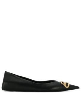 Knife Bb Motif Ballerina Shoes by Balenciaga