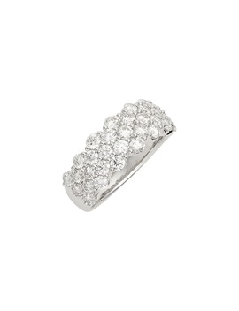 Luxe Three Row Diamond Ring by Bony Levy