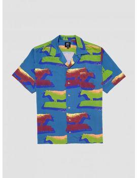 Cow Print Button Down Shirt by Brain Dead