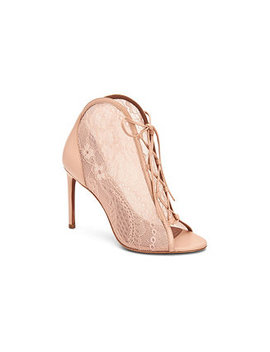 Elaine Lace Peep Toe Booties by General