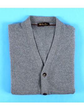 $1295 Loro Piana 100% Cashmere Cardigan Sweater   Blue   54 Xl by Loro Piana