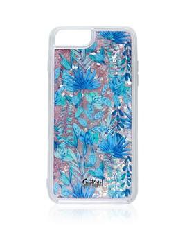 6/7/8/ Leaf Print Glitter Phone Case by Sportsgirl