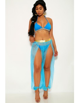 Turquoise Princess J 4 Piece Costume by Ami Clubwear
