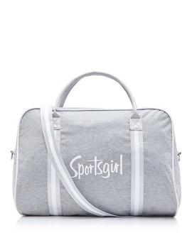 Grey Marle Lurex Webbing Duffle Bag by Sportsgirl
