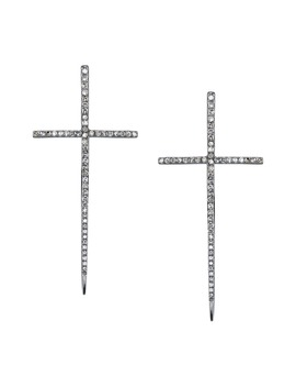 Diamond Dagger Cross Earrings by Sheryl Lowe