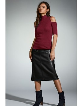 Faux Leather A Line Skirt by Next