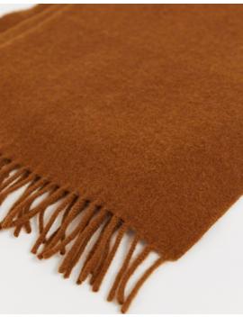 Weekday Orbit Wool Scarf In Tan by Weekday