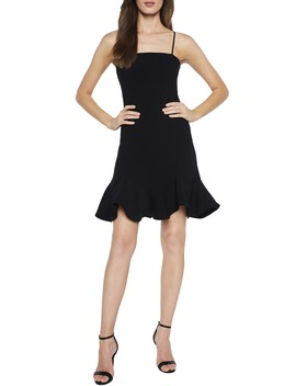 Laurie Flounce Detail Mini Dress by Bardot