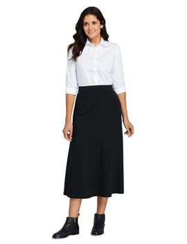 Women's Petite Ponte Knit Midi Skirt by Lands' End