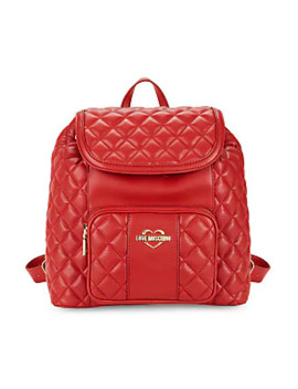 Borsa Quilted Backpack by Love Moschino