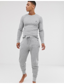 Polo Ralph Lauren Lounge Jogger In Grey Waffle by Polo Ralph Lauren