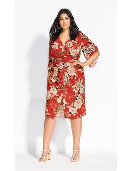 Floral Seduction Dress   Raspberry by City Chic